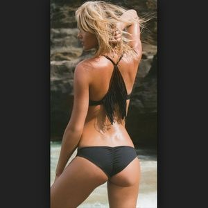 L*space Emma Ruched Swim Bikini Bottoms